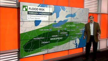 Rounds of rain to plague the Ohio Valley and East this week