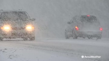 Heavy snowfall slows highway traffic