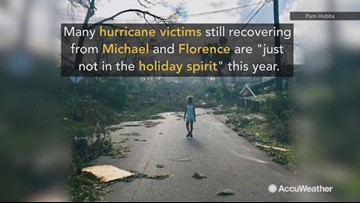 Michael and Florence recovery dampens holiday spirit for hurricane victims