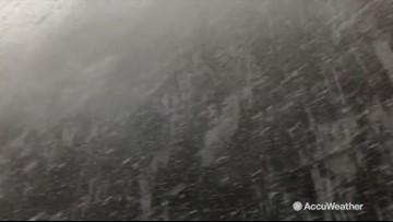 Hypnotic snowfall looks like a scene from a fairytale