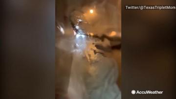 Airplane passenger captures tornado impacts