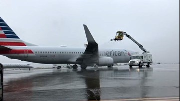 Safety first as planes at this Charlotte airport are defrosted