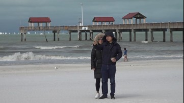 Winter returns to Florida for a day