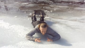 How to get out of ice safely