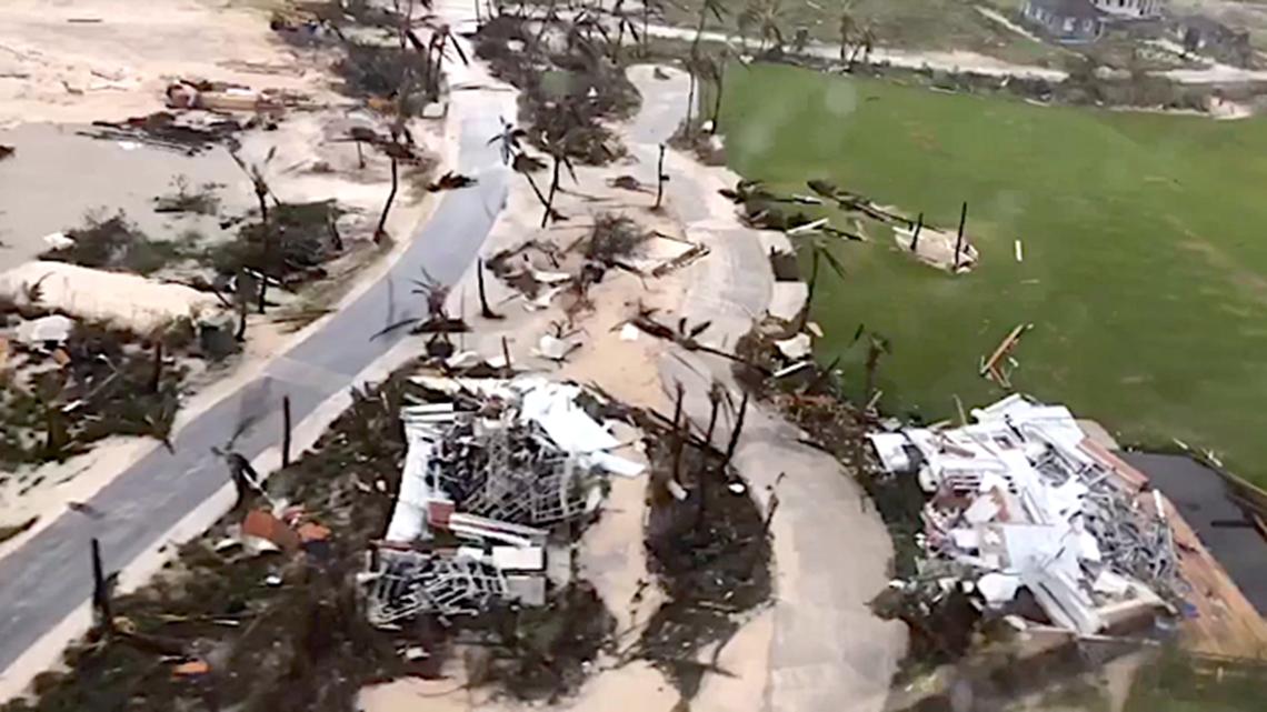 aerials from bahamas show widespread destruction after dorian