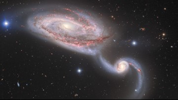 Scientists Capture Two Galaxies Caught in a Cosmic Dance