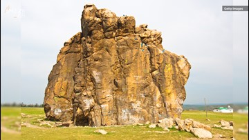 1,500-Year-Old Graffiti Covers This Massive Rock in Mongolia