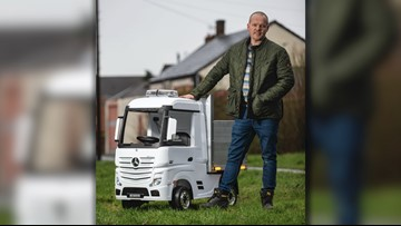 Uncle Builds Car-Loving Nephew Remote Controlled Truck For Christmas After Spending Weeks In Hospital!