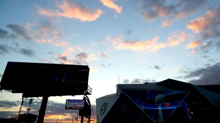 Super Bowl Opening Day Sunset Atlanta