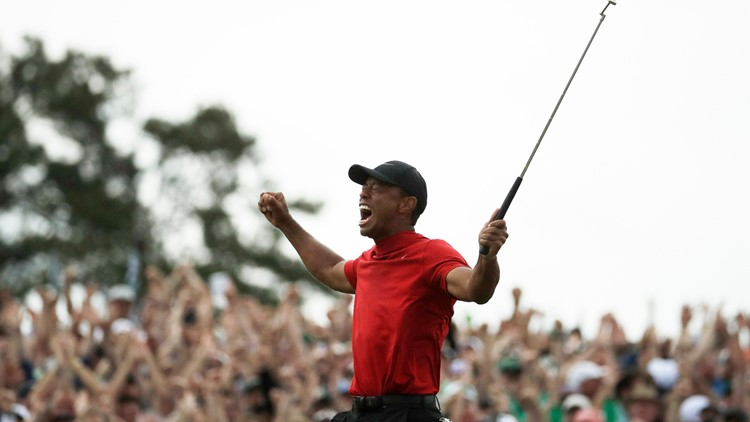 Tiger Woods wins Masters Golf April 2019 reactions