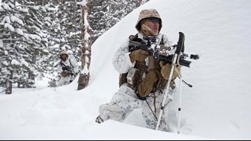 Marines train for winter warfare in climate that mimics Russia, Korea