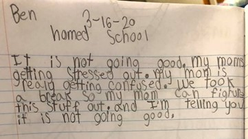 'My moms getting stressed out': Mom shares 8-year-old's hilarious journal entry about home school fail