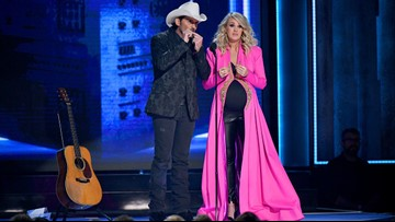 CMA Awards: Did Carrie Underwood just reveal her baby's gender?