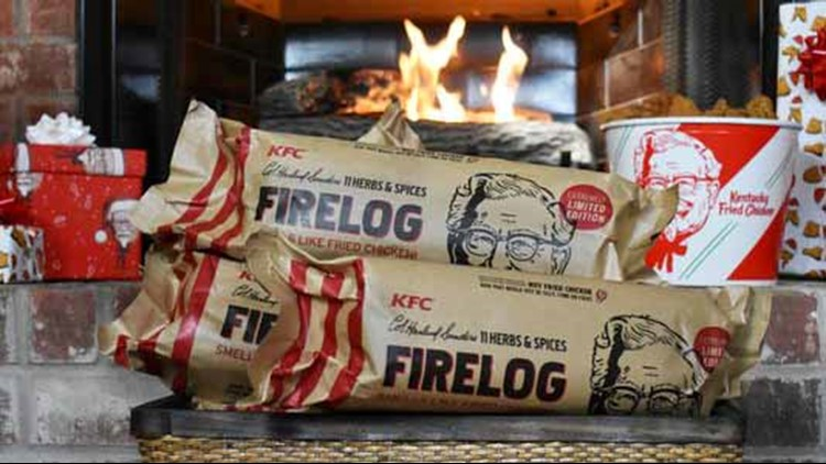 KFC is selling a firelog that smells like fried chicken, but supplies are limited