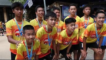 Thai soccer team marks cave ordeal anniversary with run