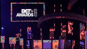 Lil Nas X performs at BET Awards with Billy Ray Cyrus