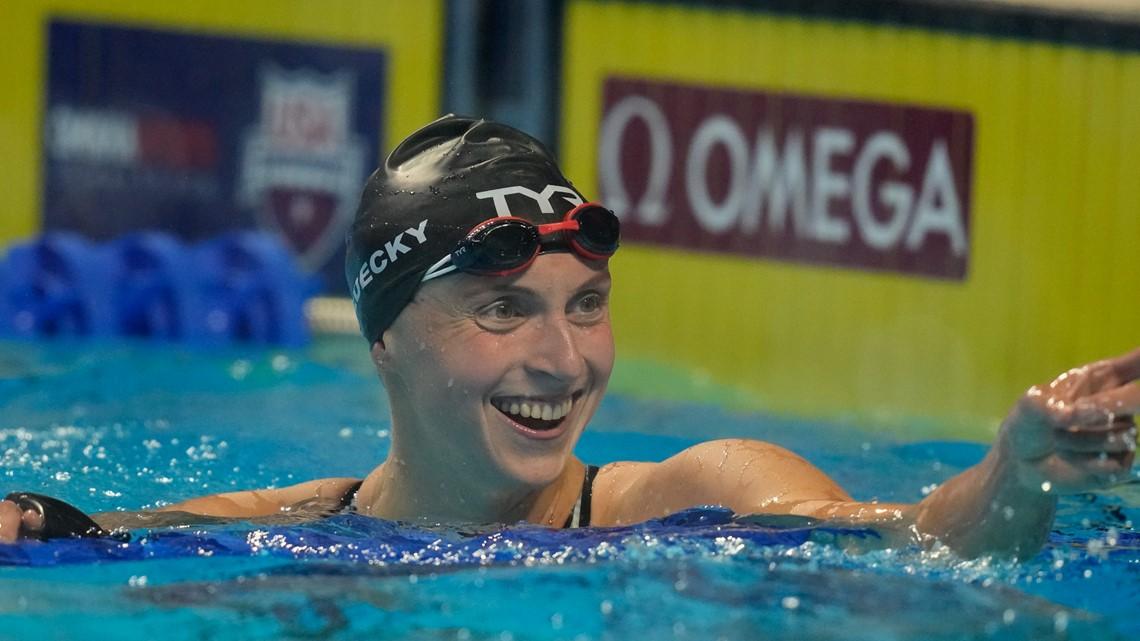 Dressel, Ledecky romp to wins at US Olympic swim trials - WGRZ.com