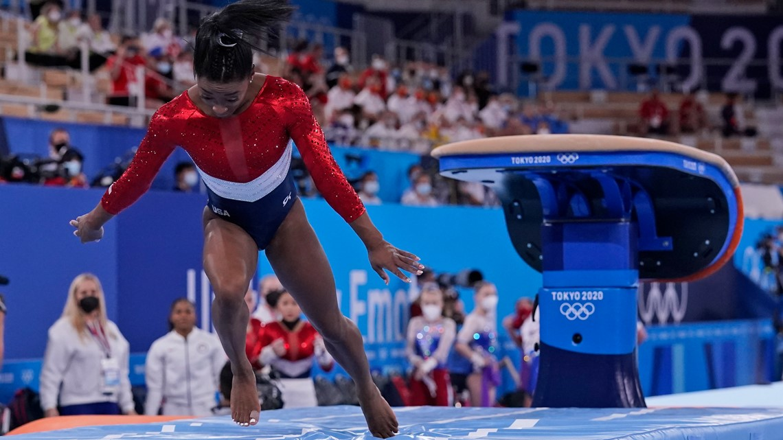 US gets silver after losing Simone Biles in team final; Russia wins