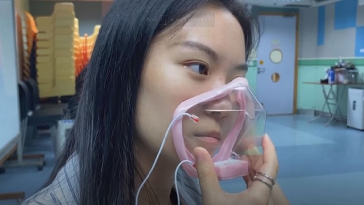 Transparent, filtered face mask enables wearer show entire face