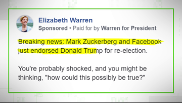 VERIFY: No, Facebook didn't endorse President Trump