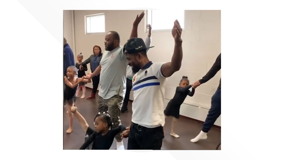 'It's cool to be a good dad'   Watch these dads adorably crash their daughters' ballet class