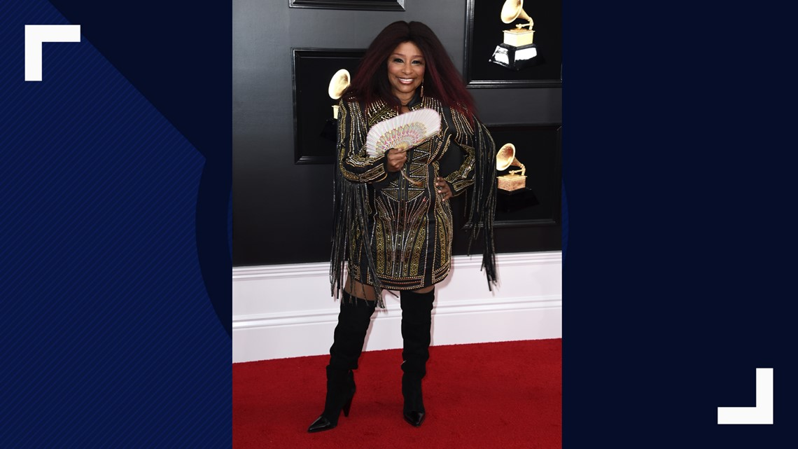 d32e6d6fa784 Chaka Khan arrives at the 61st annual Grammy Awards at the Staples Center  on Sunday