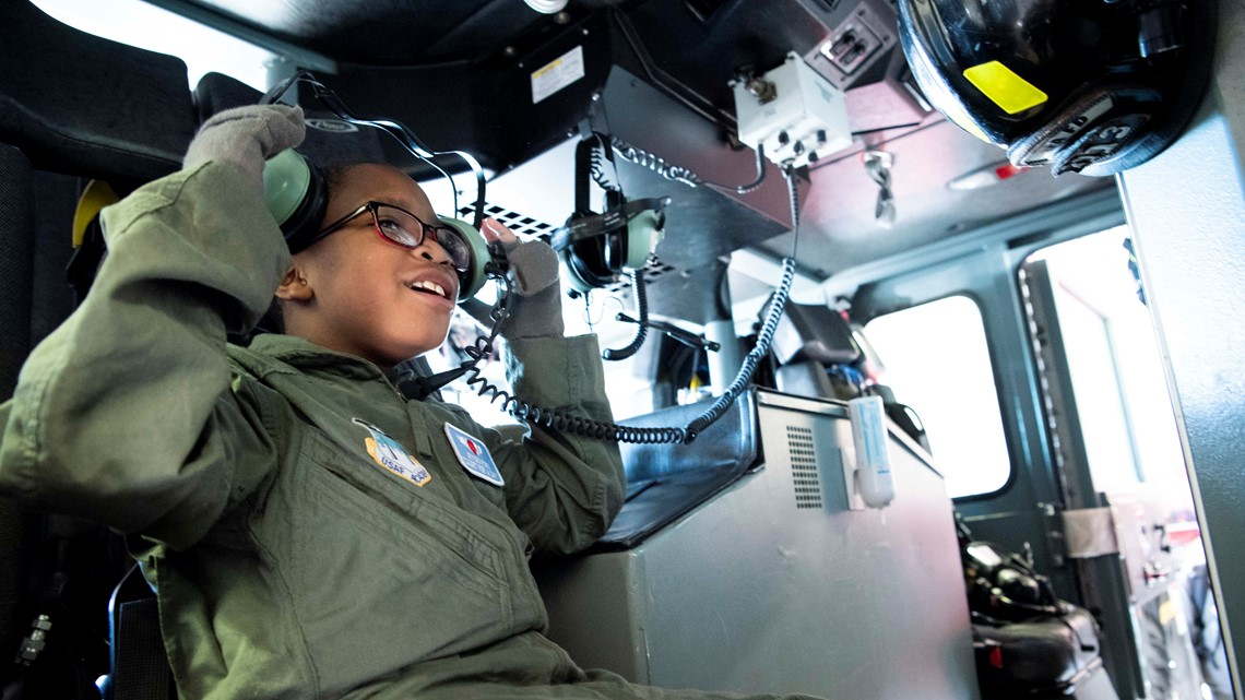 PHOTOS: Boy with cancer becomes Air Force cadet for a day