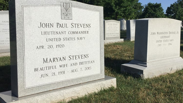 Supreme Court Stevens Burial