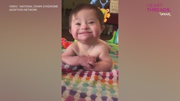 Baby with Down syndrome can't stop smiling