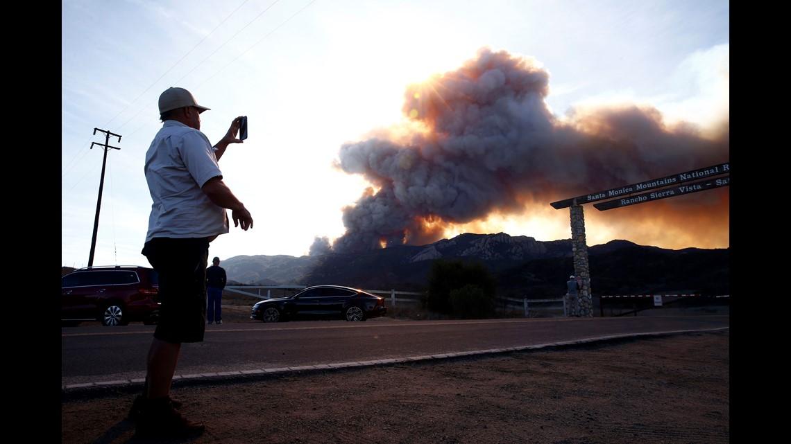 Malibu California fire Mandatory evacuation order forces