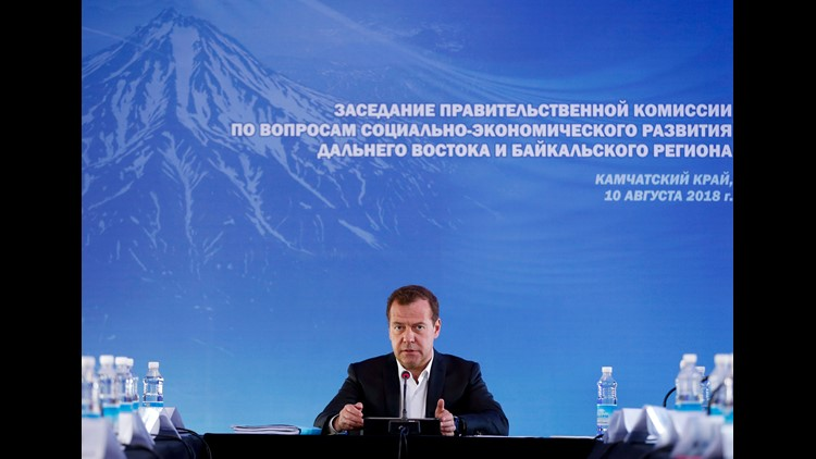 """Russia's prime minister warned the U.S.against imposing new sanctions and said the Kremlin would view any ban on banking as a """"declaration of economic war."""""""
