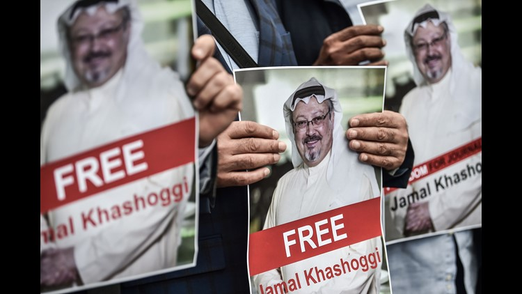 Senators used a 2012 sanctions law to trigger a White House investigation into disappearance of Jamal Khashoggi after visiting Saudi consulate in Turkey.
