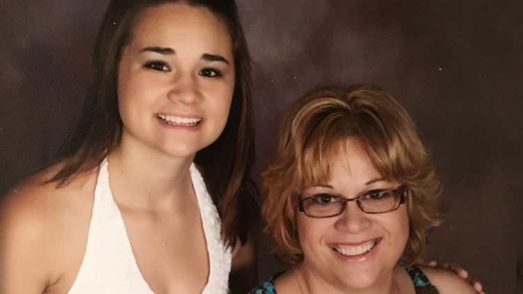 Karynza Moore and her mother, Christy Mastin.