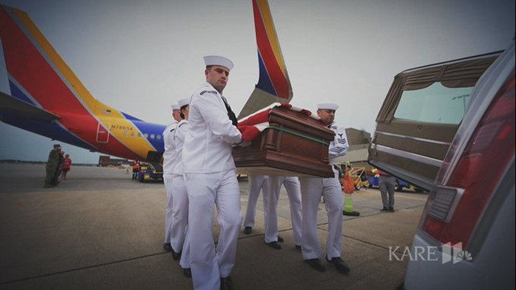 Remains of sailor killed during Pearl Harbor returned to Minnesota