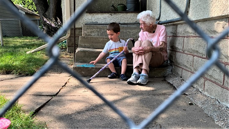 He's 2 years old. She's about to turn 100. They've formed a friendship across a backyard fence you have to see
