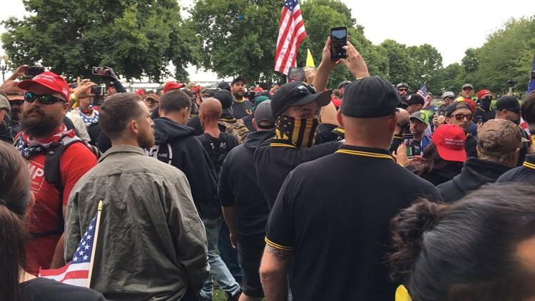 Live updates: 13 arrested during Aug. 17 dueling demonstrations in Portland