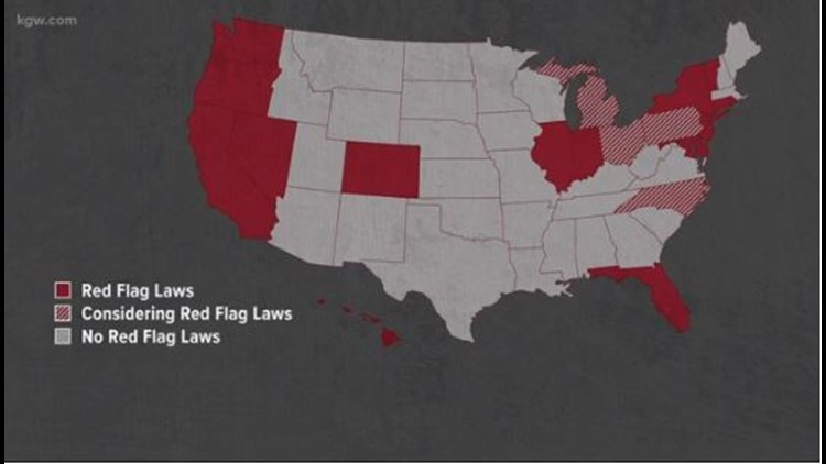 Map of states with Red Flag laws