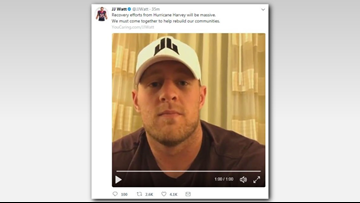 JJ Watt's Houston Harvey relief fund hits $20M
