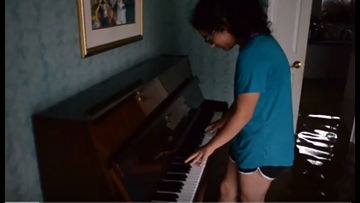 WATCH: Flooded piano gives family a final melody