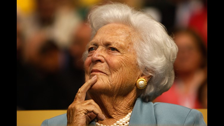 Former First Lady of United States Barbara Bush is in