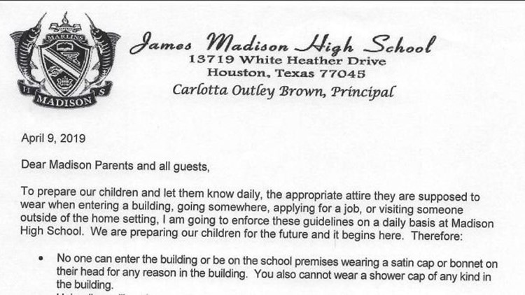 No pajamas, no shower caps: Houston high school enforces 'parent dress code'