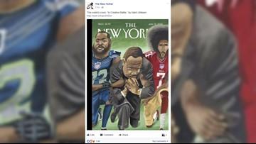 Seahawks' Bennett, MLK kneeling on New Yorker cover