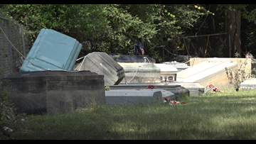 Flooding unearths dozens of caskets from Silsbee cemetery