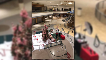 'In the middle sits lonely Santa' | Photo shows Santa waiting for children to visit