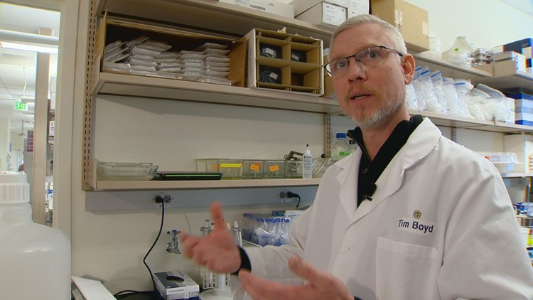 Dr. Timothy Boyd is a member of a research team at the CU-Anschutz campus that is researching a promising new treatment for Alzheimer's disease.
