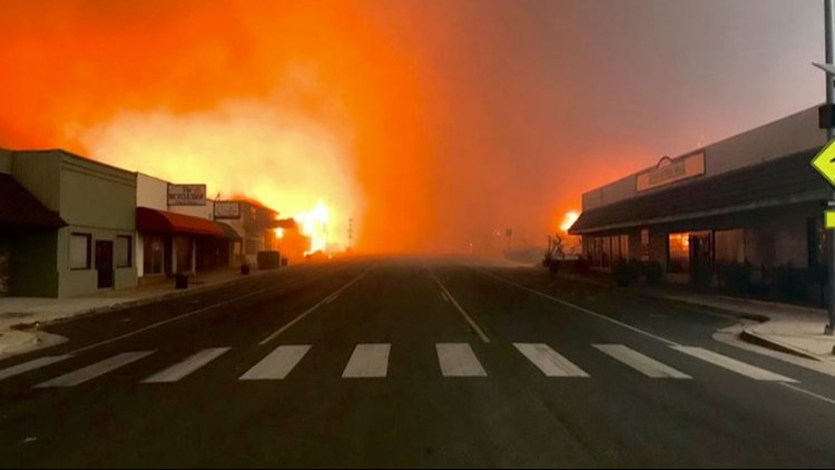 Camp Fire devastation in Butte County