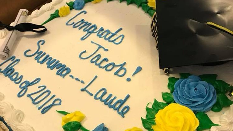 South Carolina Publix Censors Graduates Summa Cum Laude Cake