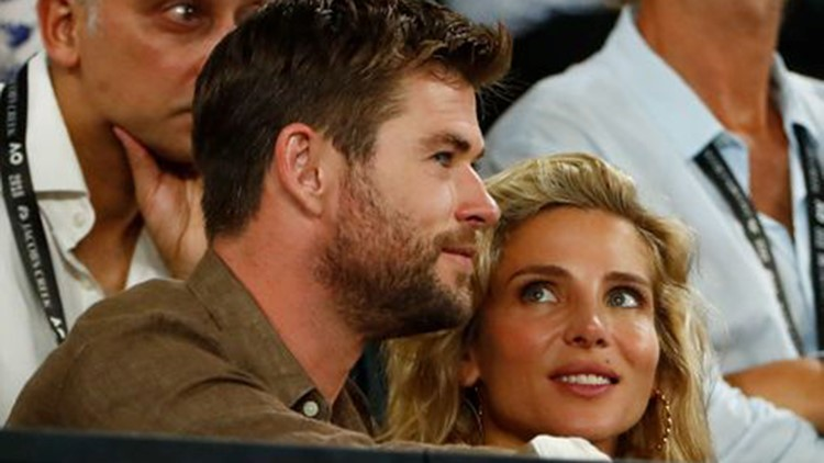 The 'Thor' star shared a selfie in front of his birthday cake on Saturday, alongside wife Elsa Pataky
