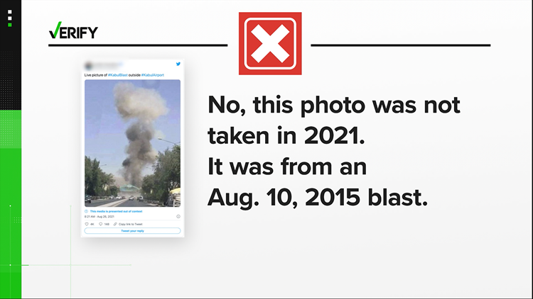 No, these viral posts are not of the Kabul airport explosion on Aug. 26th.