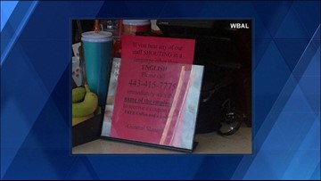 Controversial sign at Dunkin' Donuts shop causes Twitter uproar